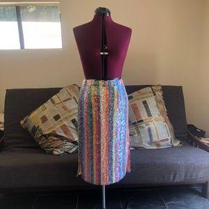 HTF NWOT Anthropologie Sequined Palette Midi Skirt